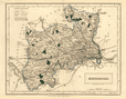 Antique county map of MIDDLESEX by Sidney Hall c1830 old chart